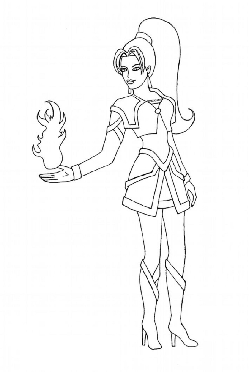 female superhero coloring pages 4