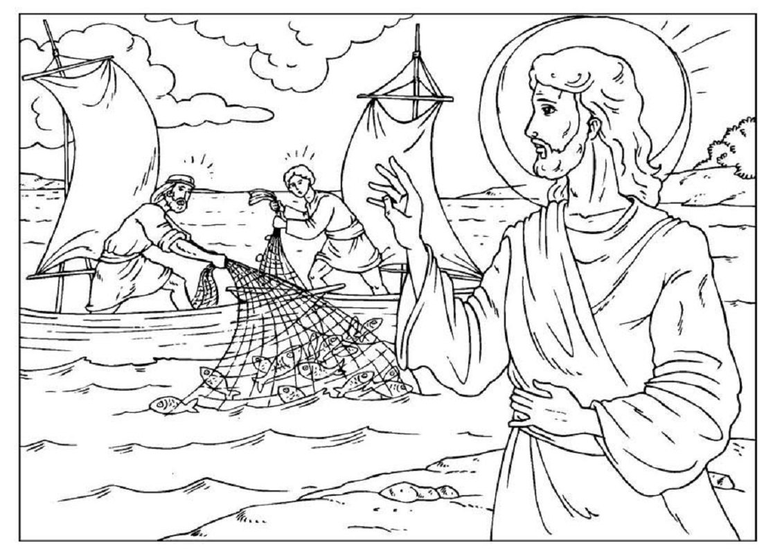 fishers of men coloring page 5