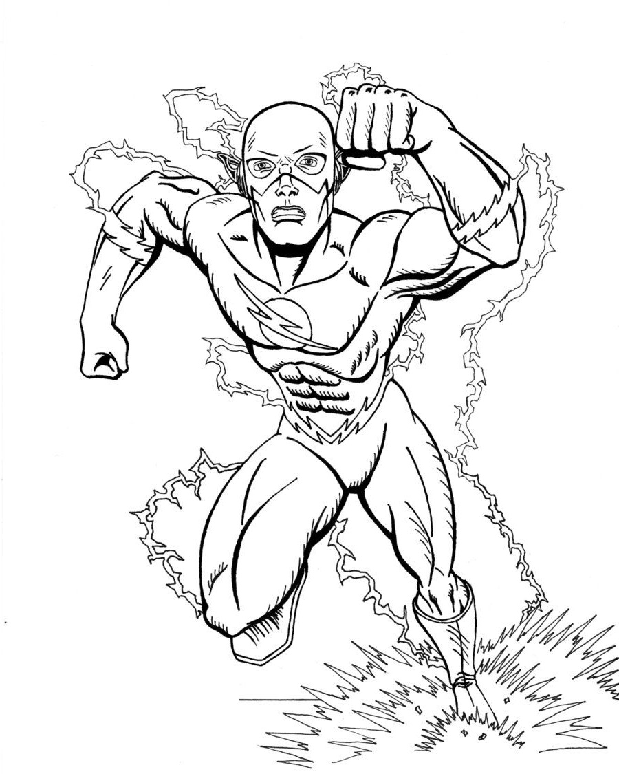 flash coloring pages run