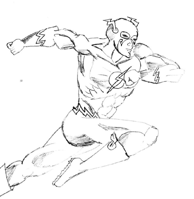 flash coloring pages running