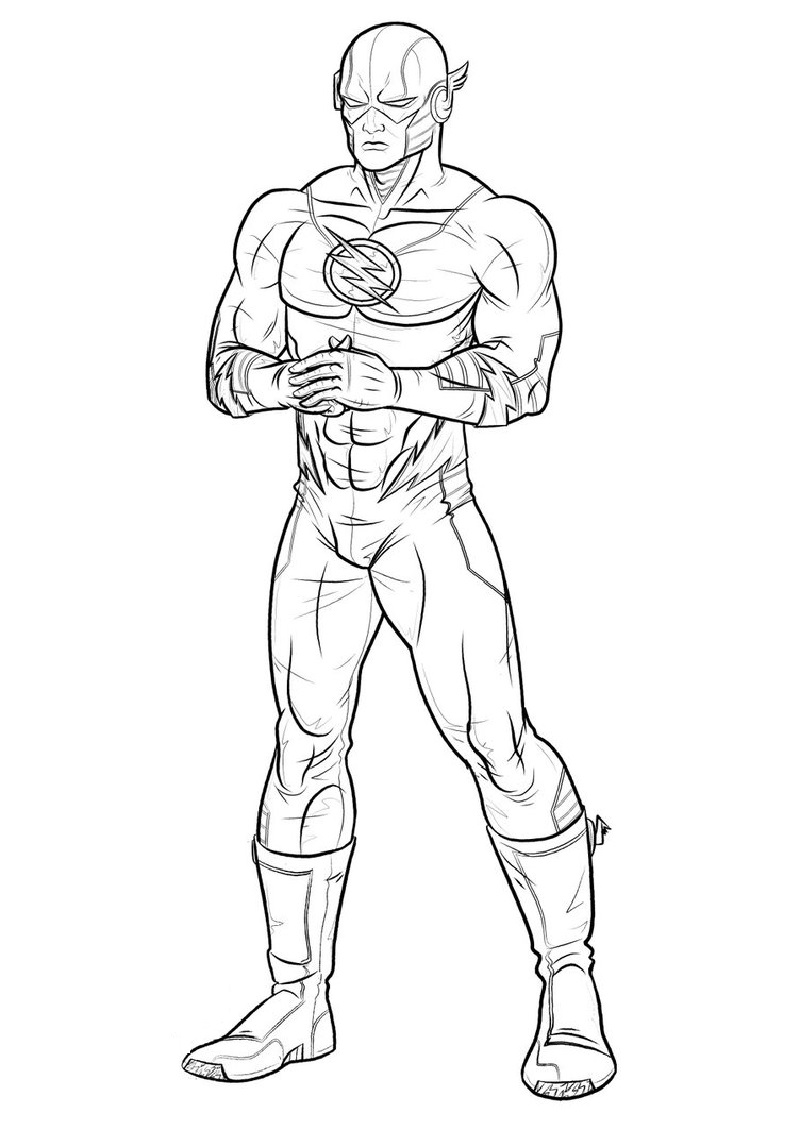 flash coloring pages single