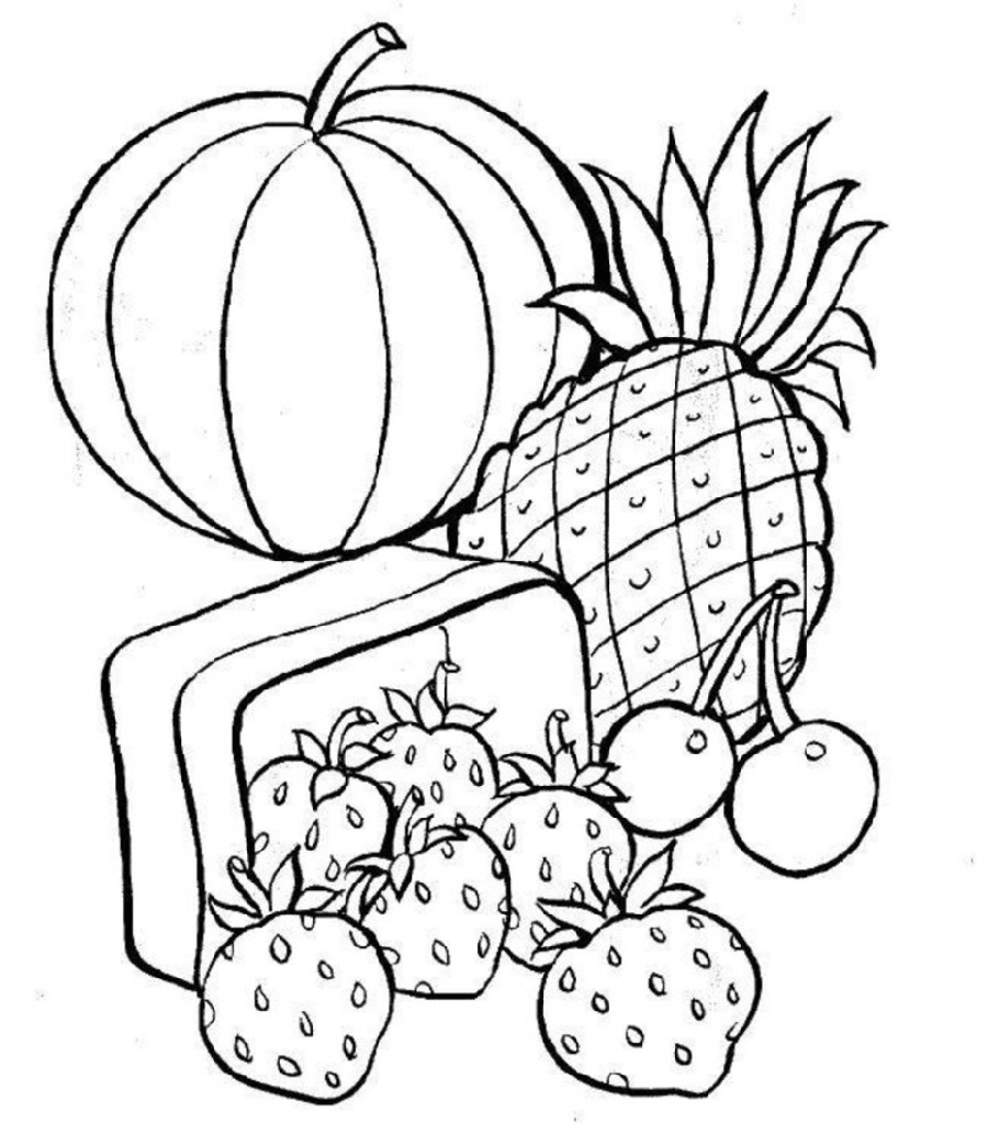 food coloring pages 1