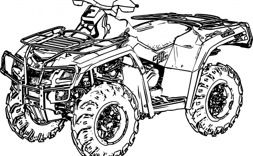 Beautiful Four Wheeler Coloring Pages