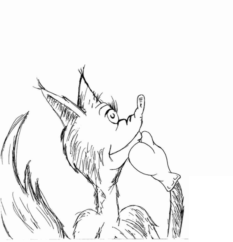 fox in socks coloring page 5