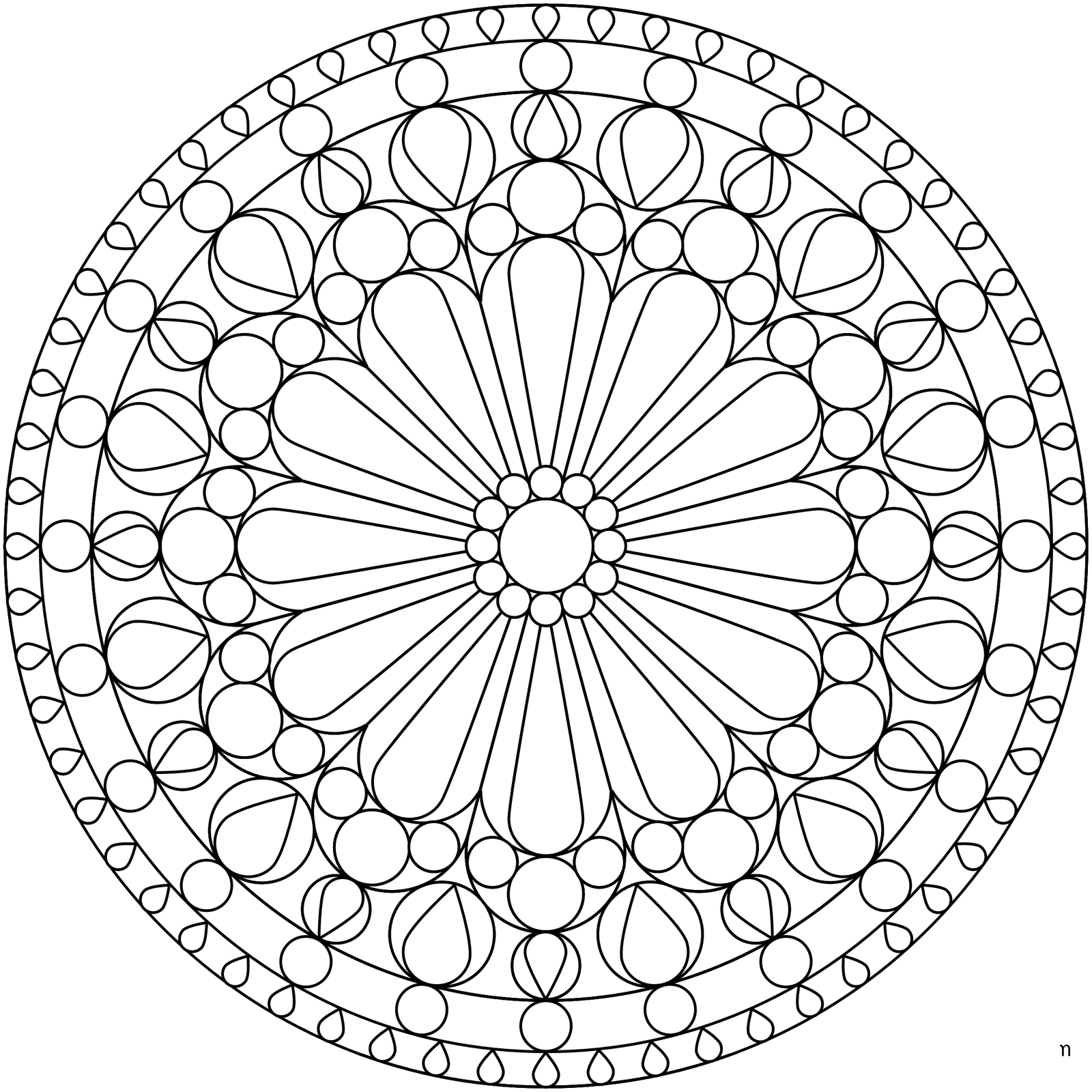 free mandala coloring pages 1