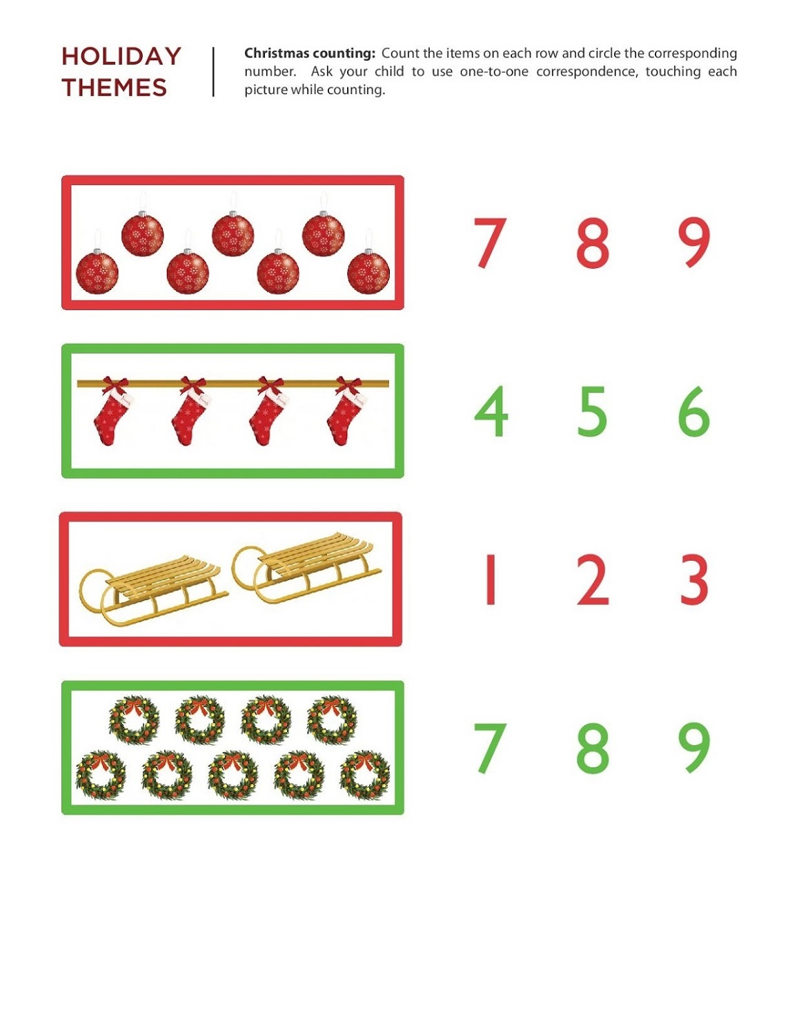 free numeracy worksheets 3