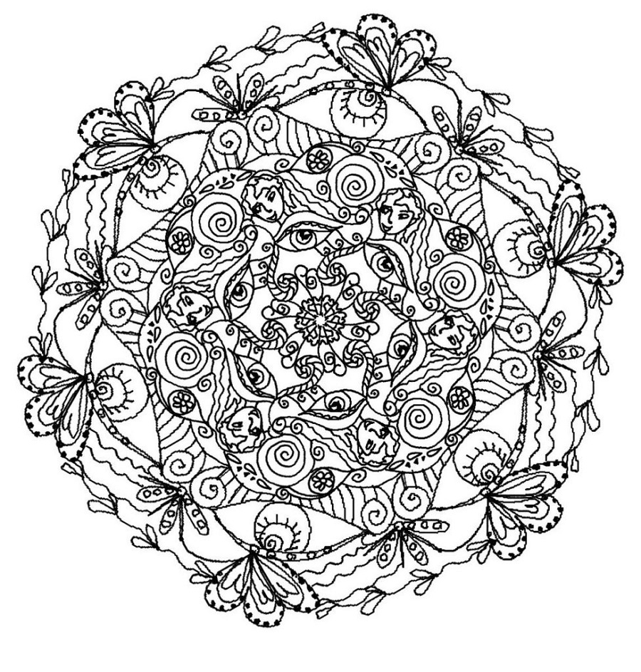 free printable hard coloring pages for adults 4