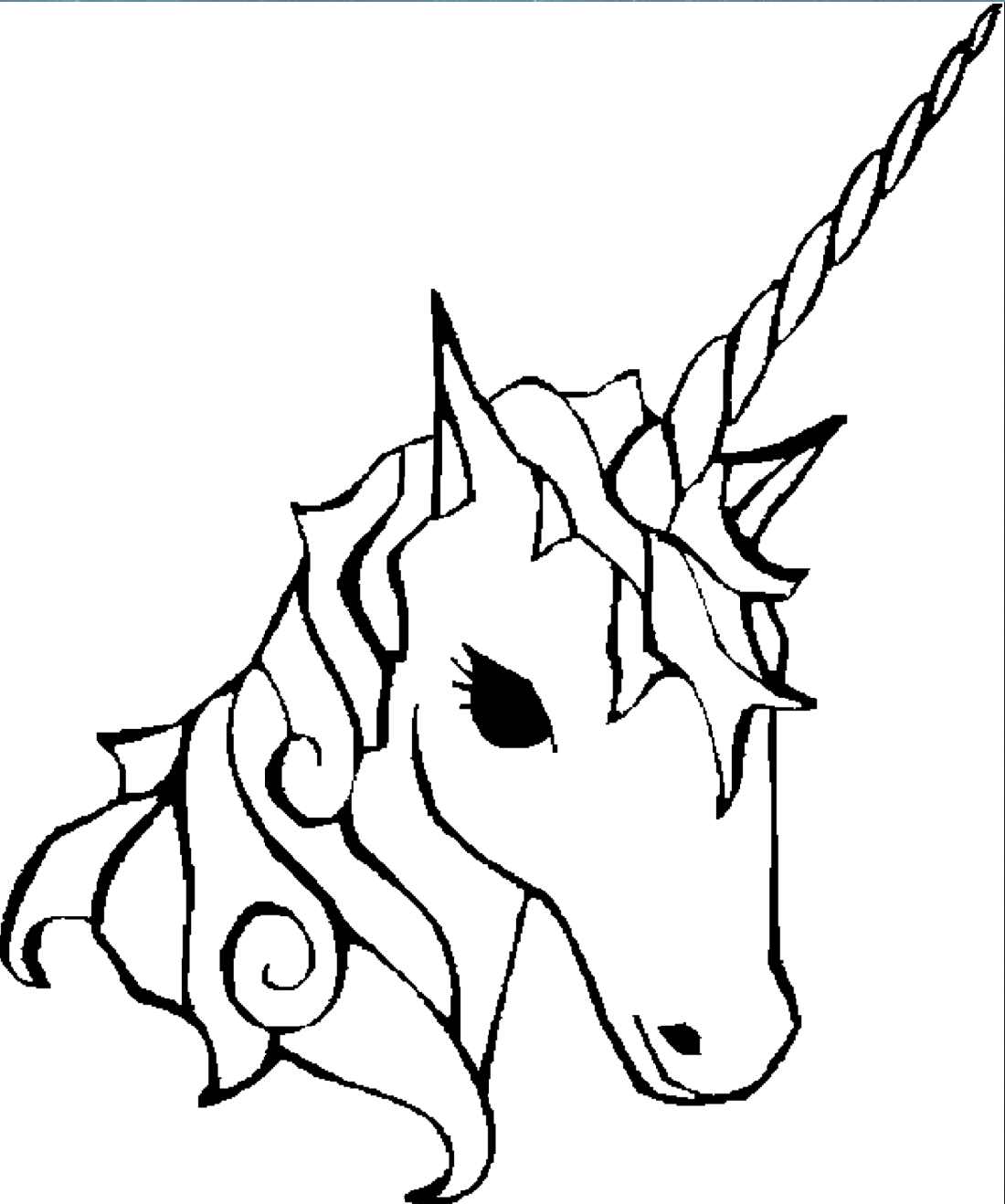free printable unicorn coloring pages 3