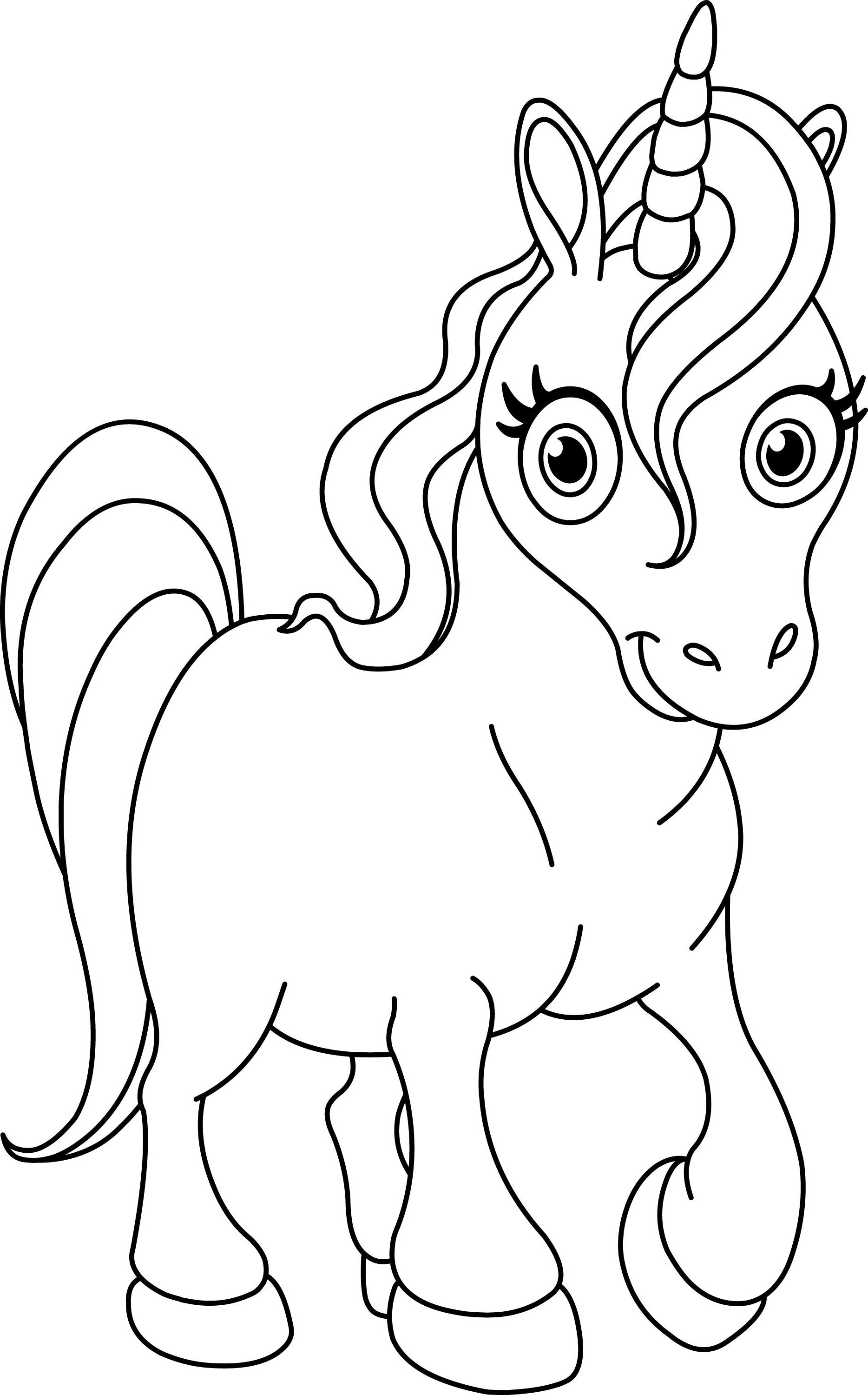 free printable unicorn coloring pages 5
