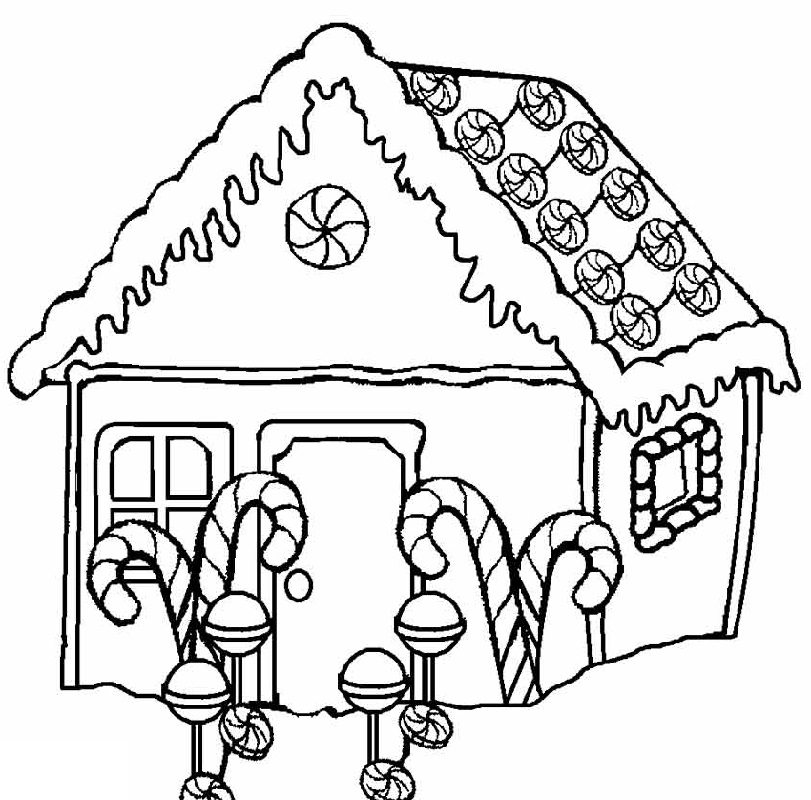 gingerbread house coloring pages 3