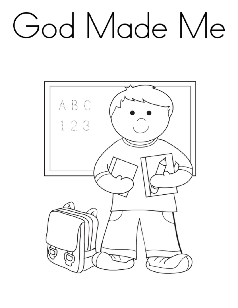 god made me coloring page 1