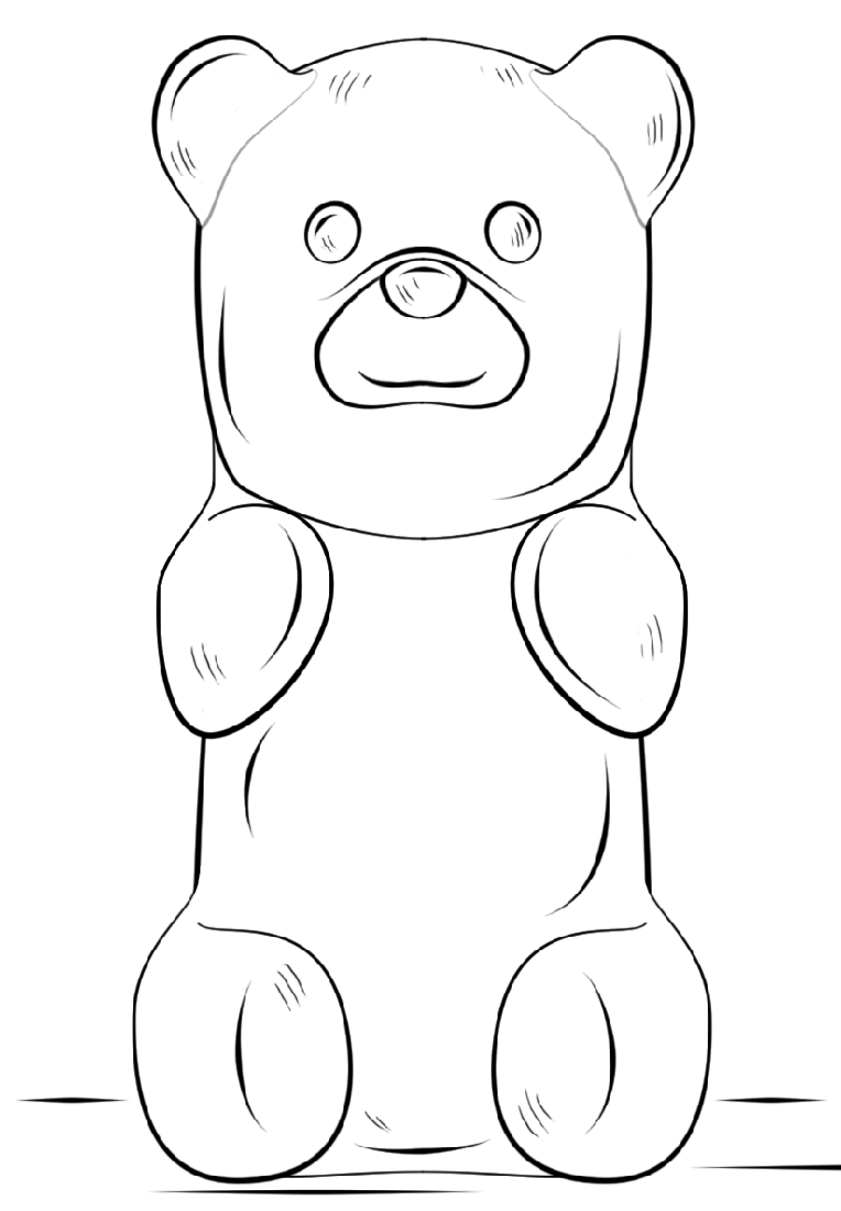 gummy bear coloring page 4