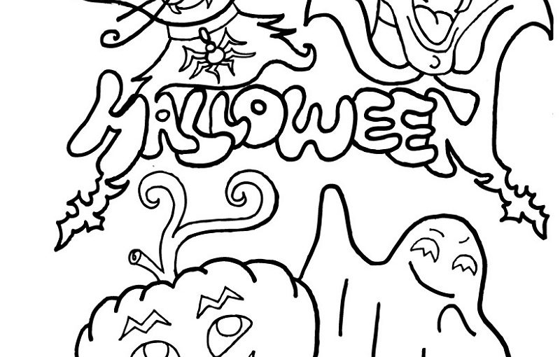 Funny Halloween Coloring Book