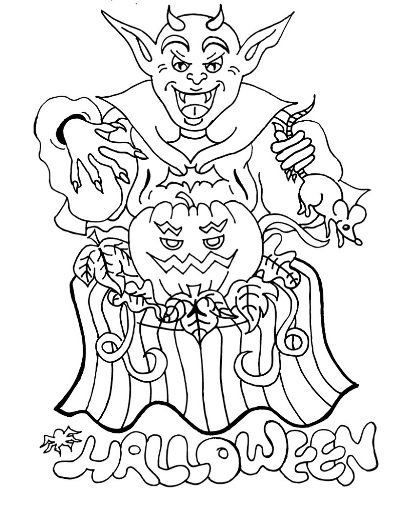 halloween coloring book 4