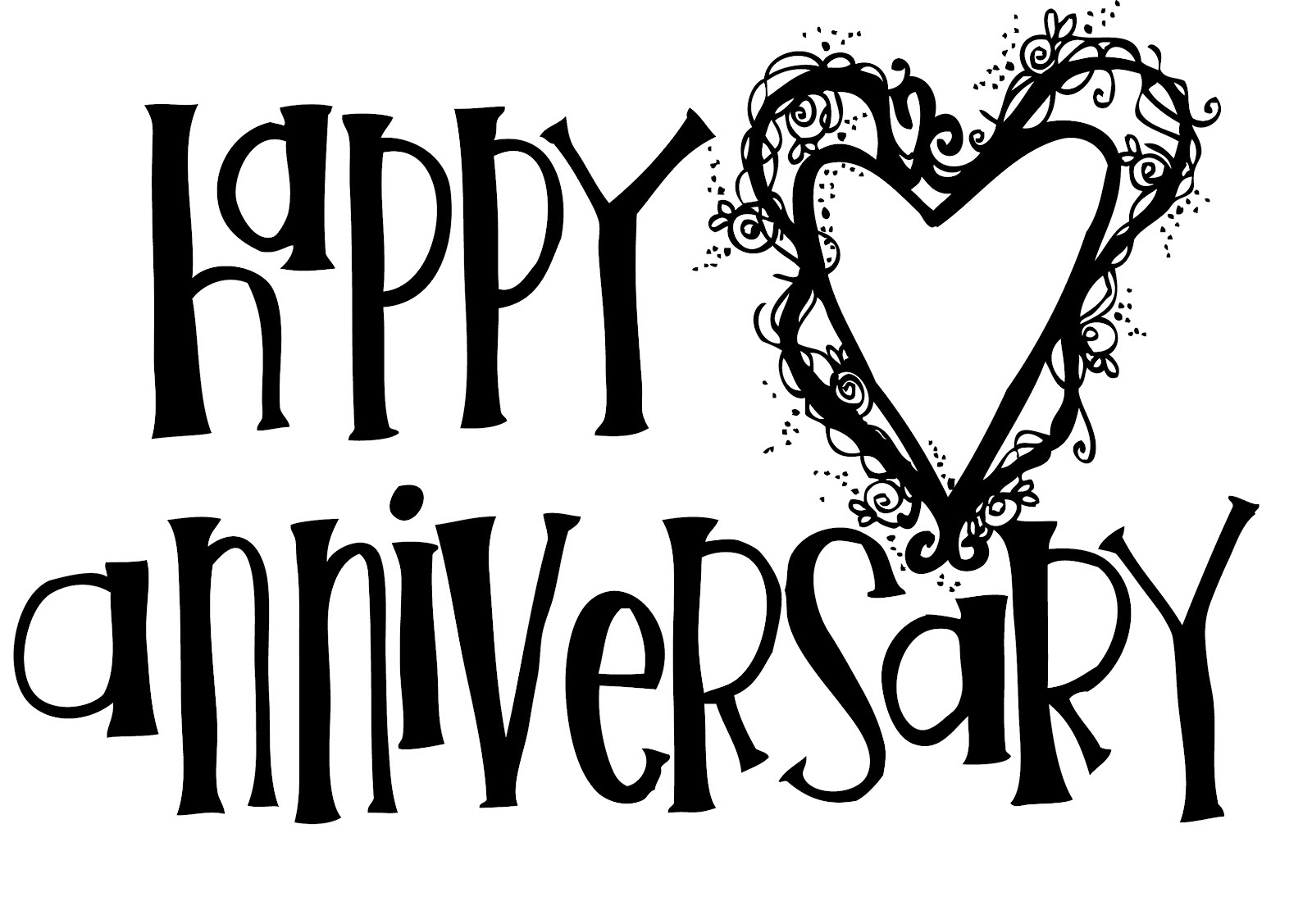 happy anniversary coloring page 2