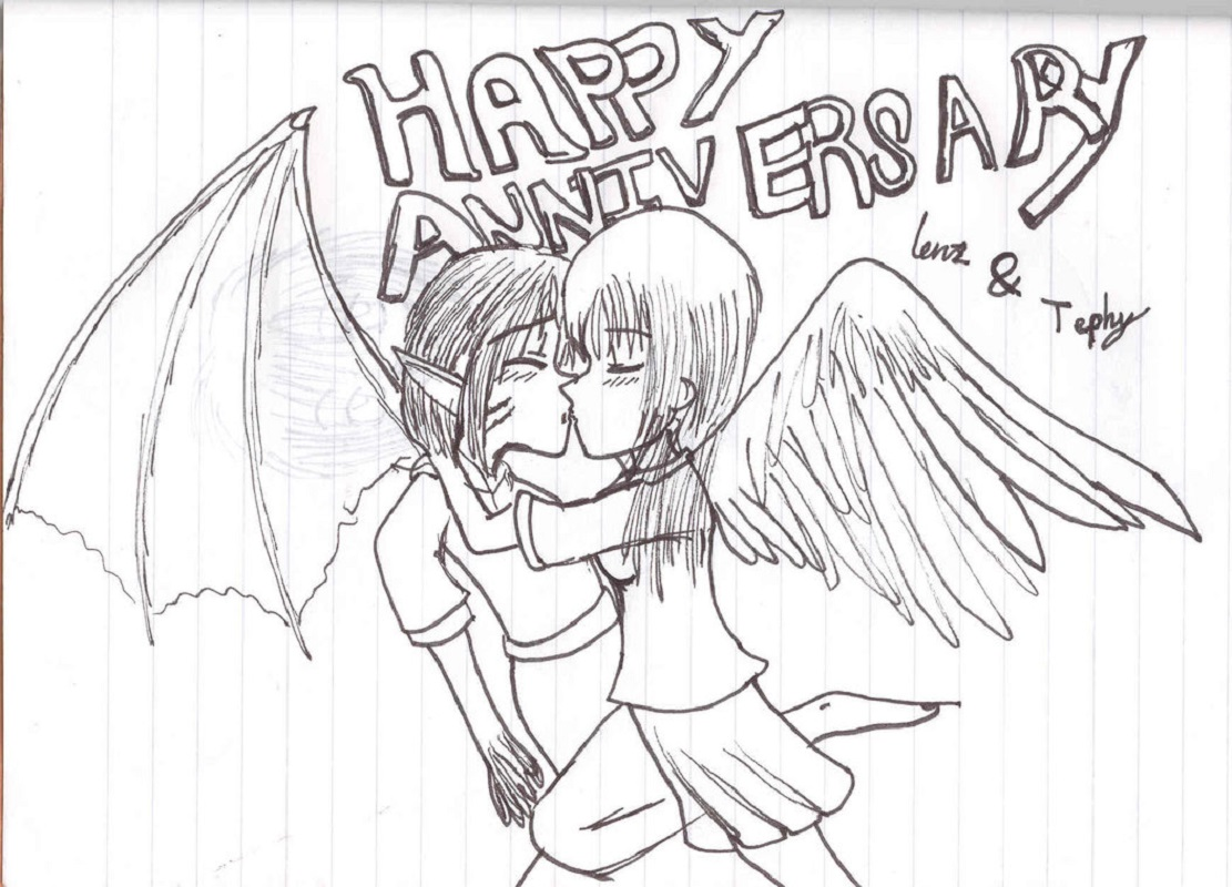 happy anniversary coloring page 4