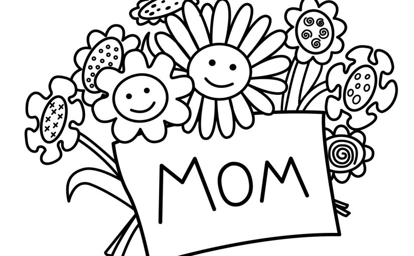 Happy Birthday Mom Coloring Page