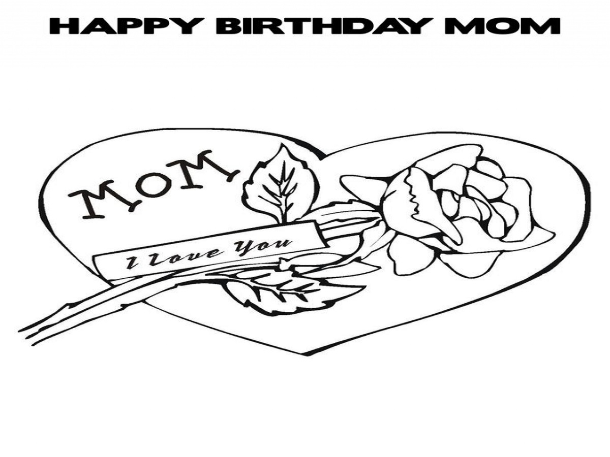 happy birthday mom coloring page 5