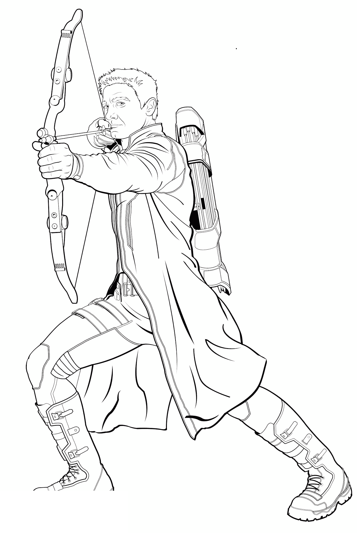 hawkeye coloring pages 1