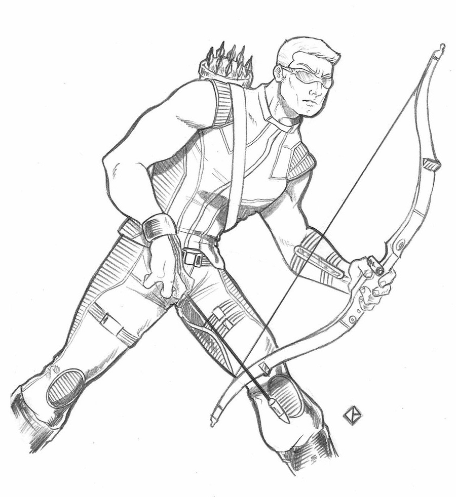 hawkeye coloring pages 2
