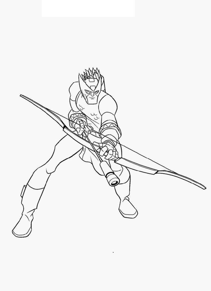 hawkeye coloring pages 3