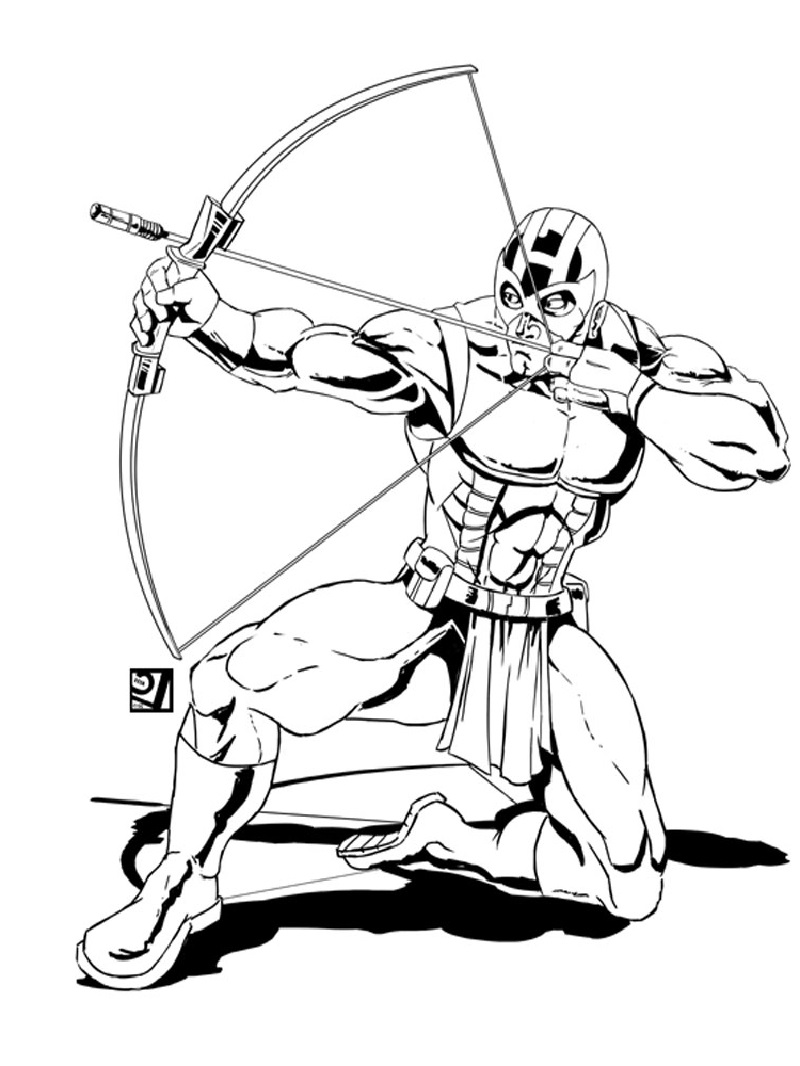 hawkeye coloring pages 5