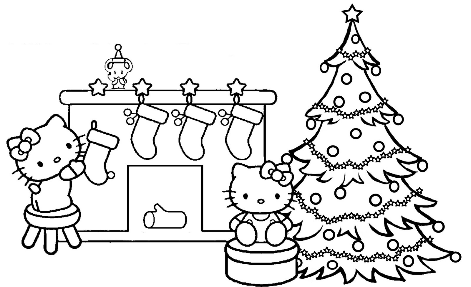 hello kitty christmas coloring pages 4
