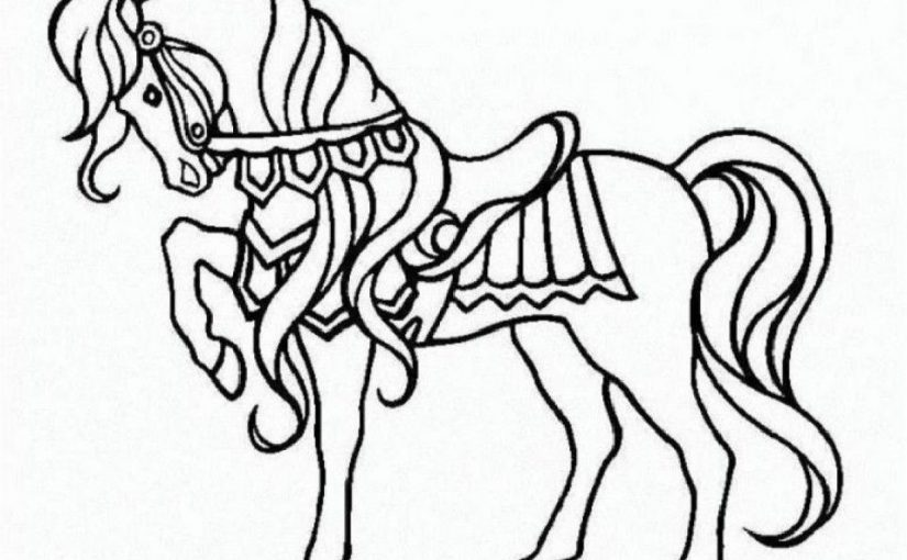 horse coloring book 1