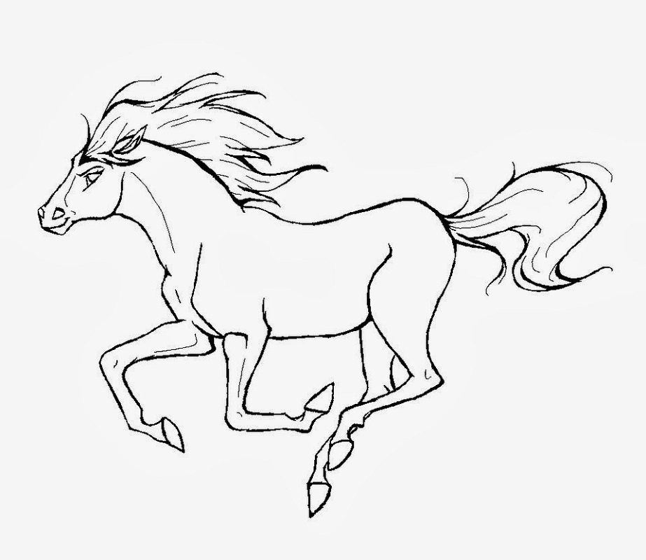 horse coloring book 4