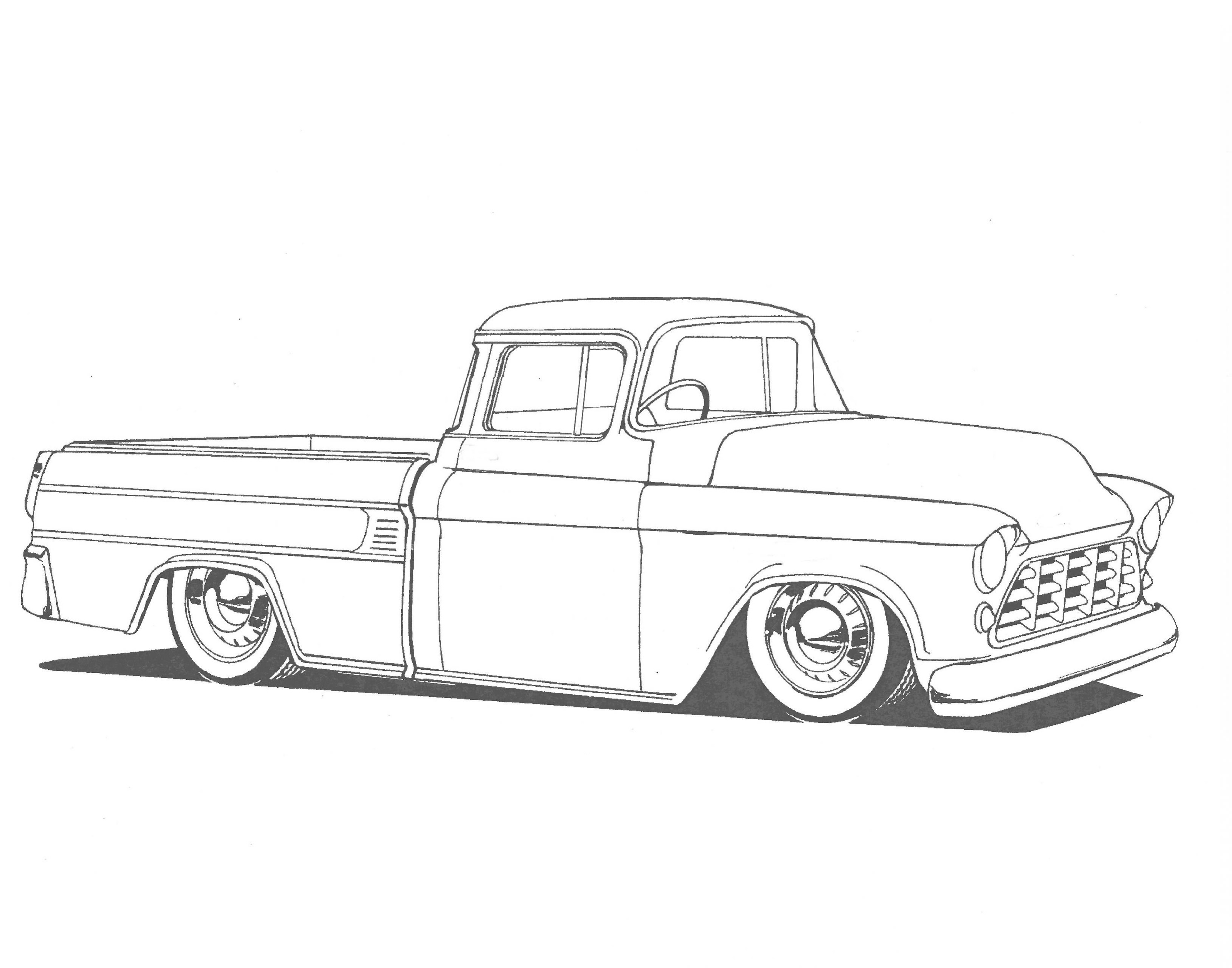 hot rod coloring pages 1