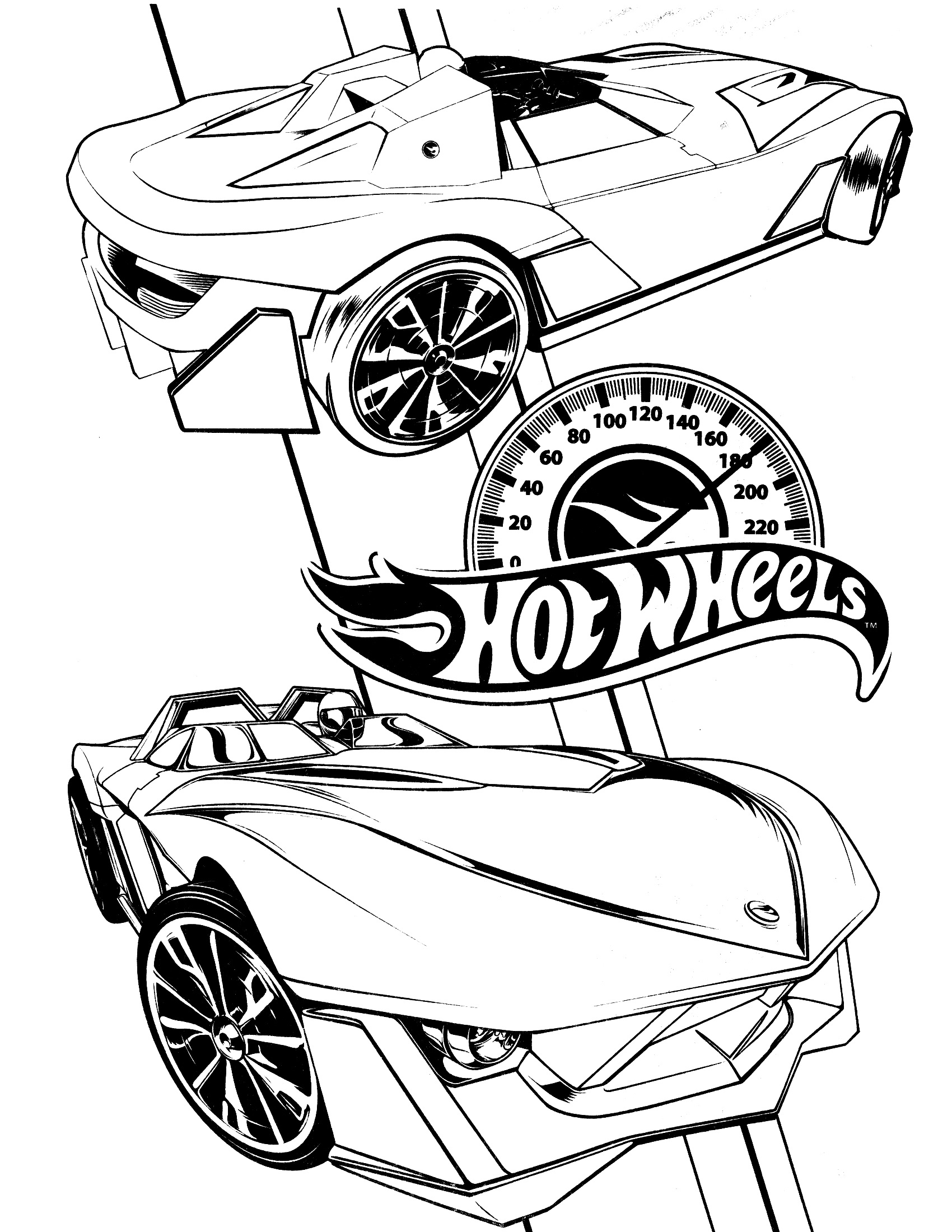 hot wheels coloring pages 1
