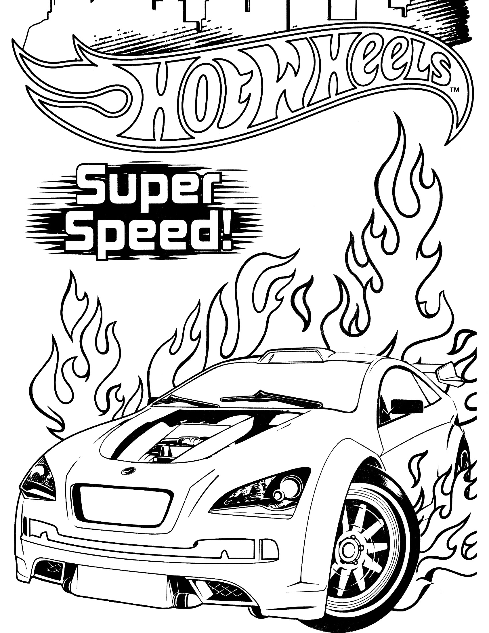 hot wheels coloring pages 4