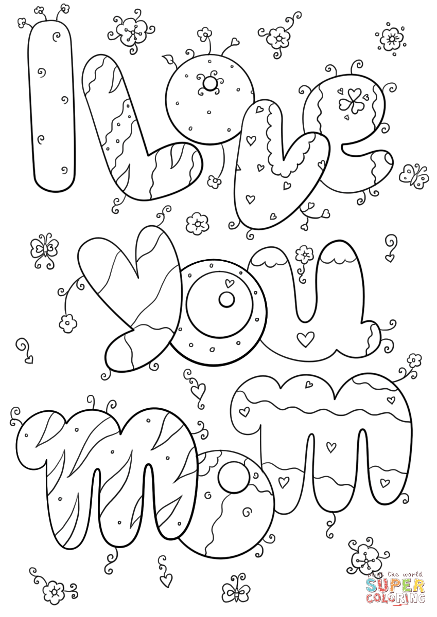 i love you mom coloring pages 3