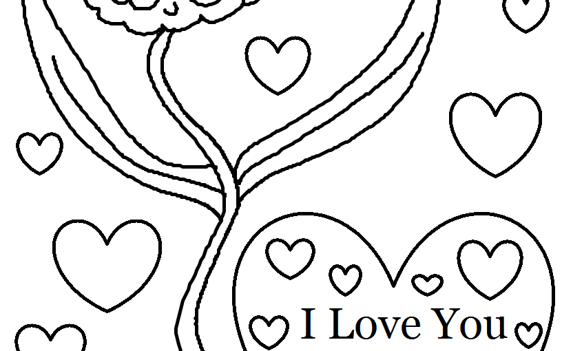 i love you mom coloring pages 5