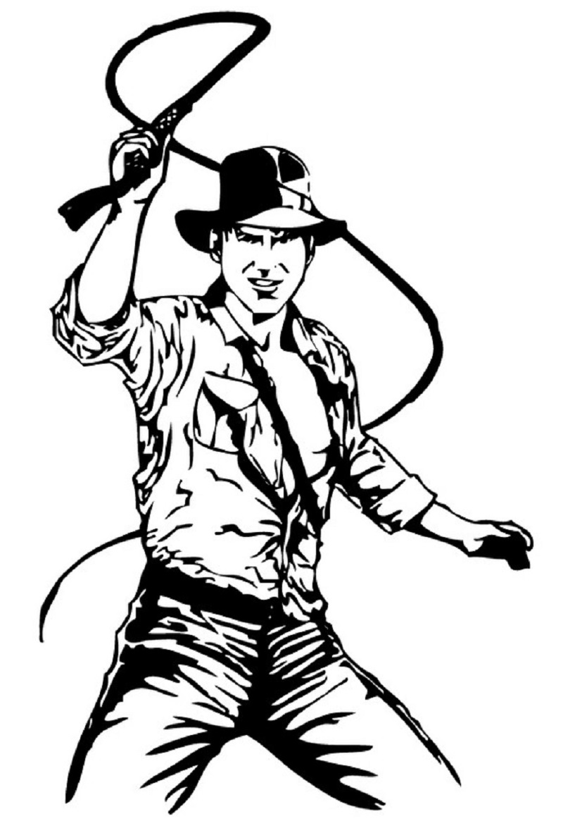 indiana jones coloring pages 2