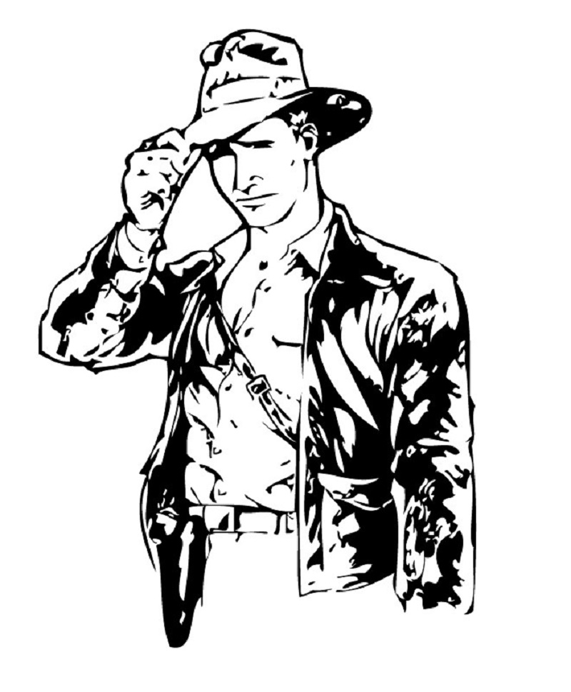 indiana jones coloring pages 4