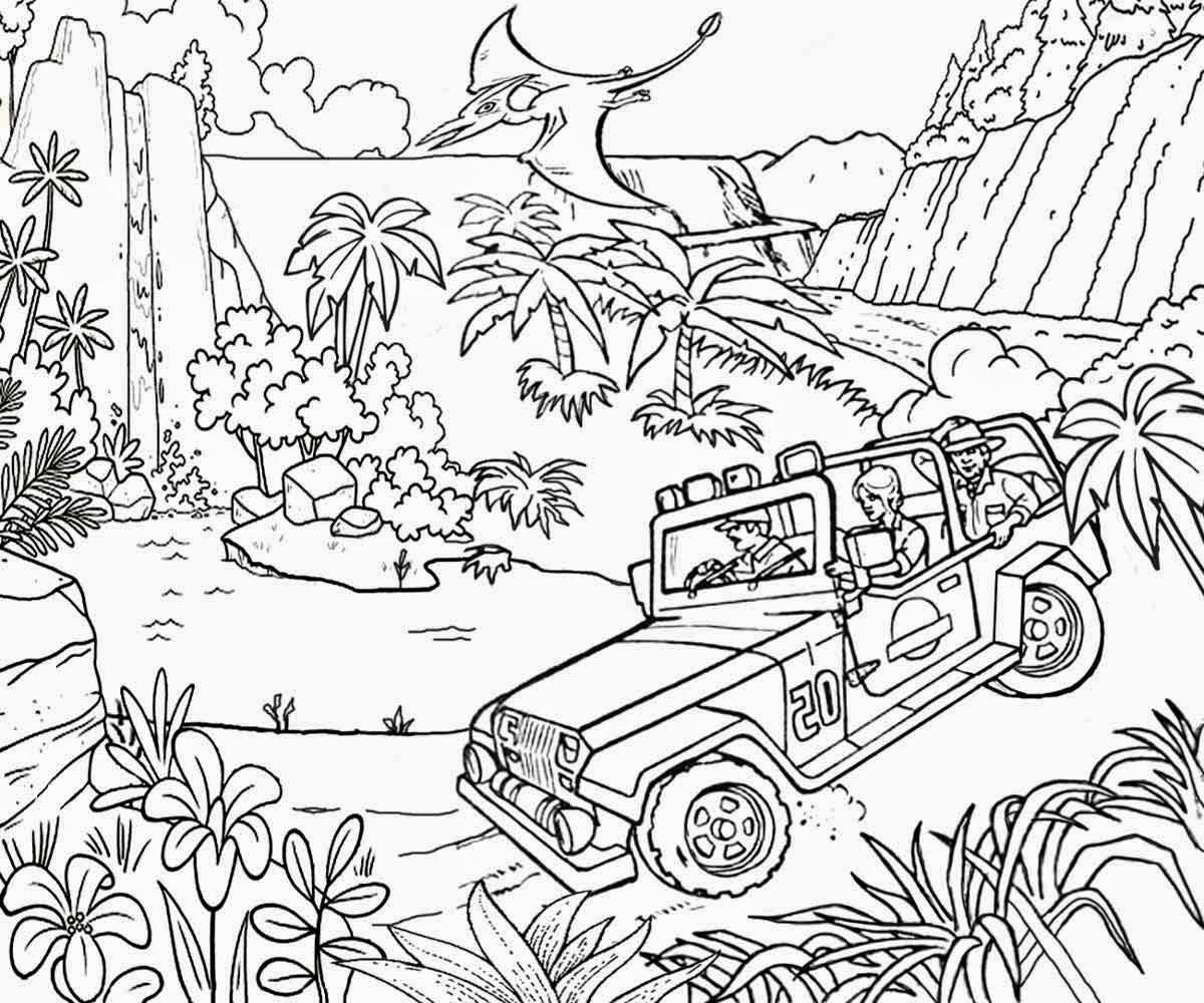 jurassic park coloring pages 1