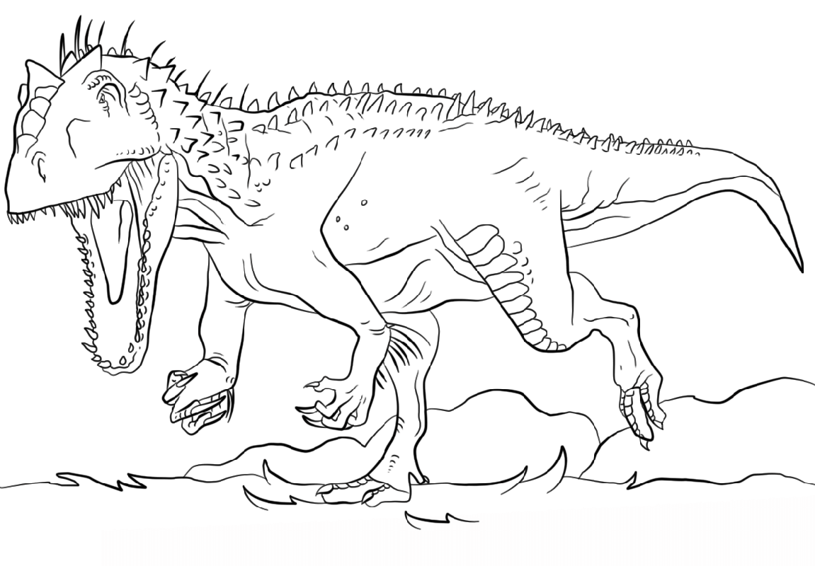 jurassic park coloring pages 2