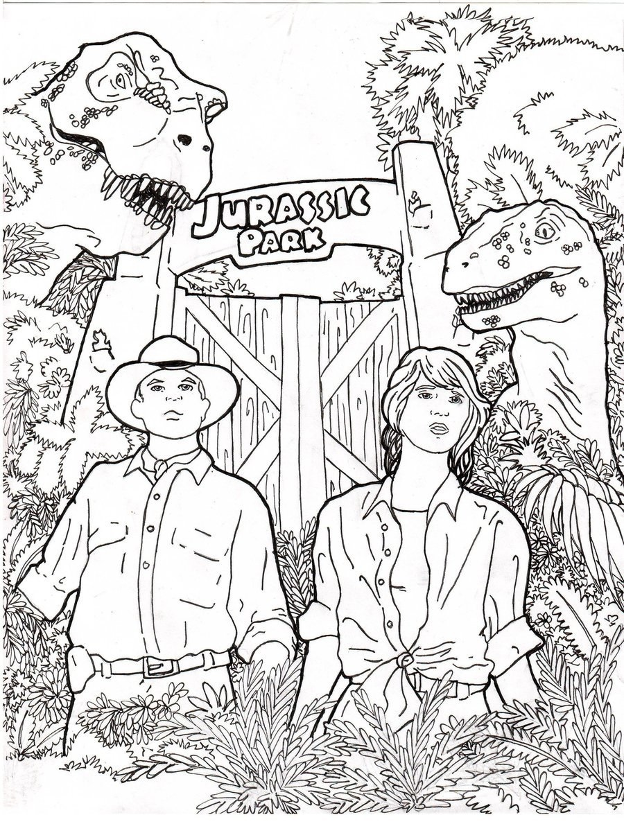 jurassic park coloring pages 5