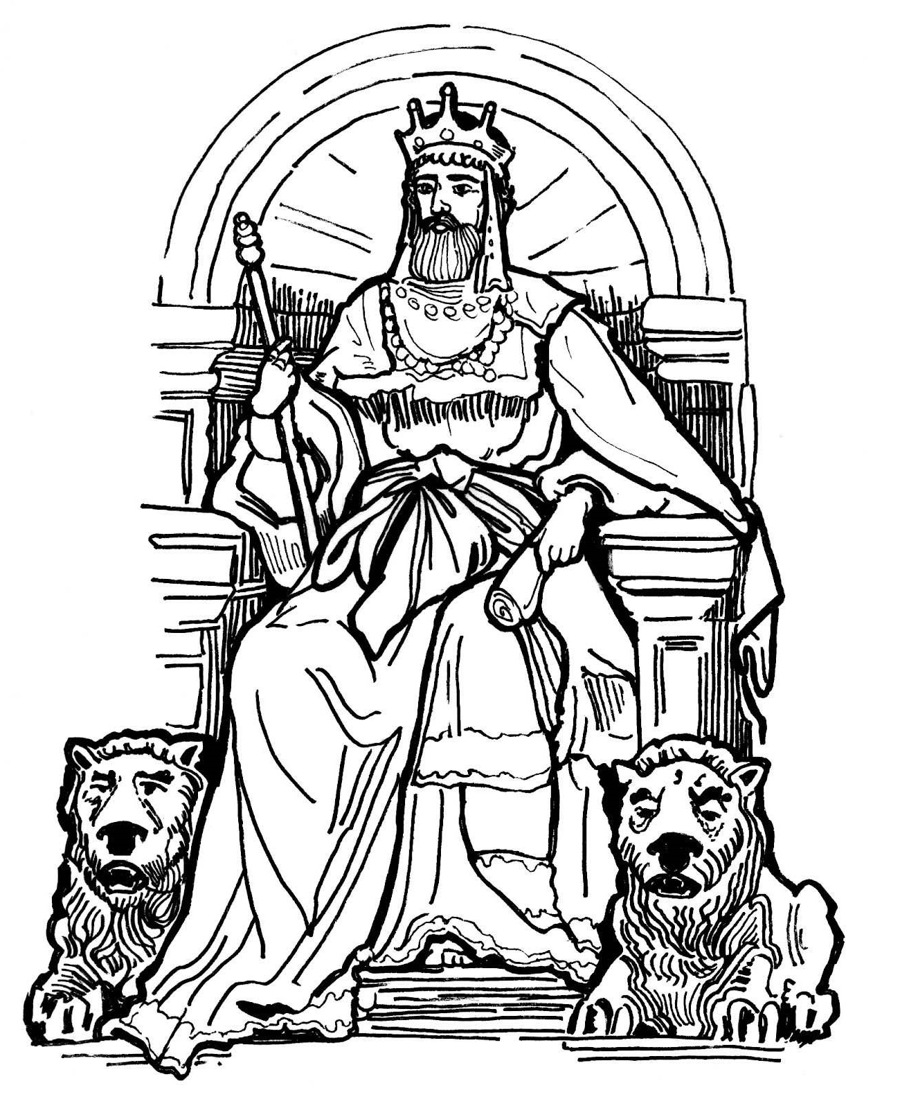 king david coloring pages 4