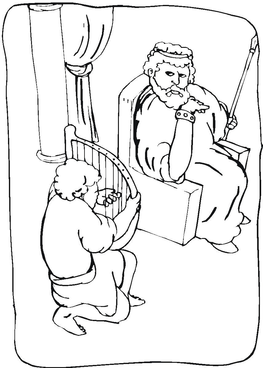 king david coloring pages 5