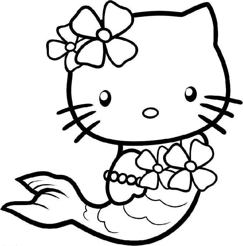 kitty coloring pages 1