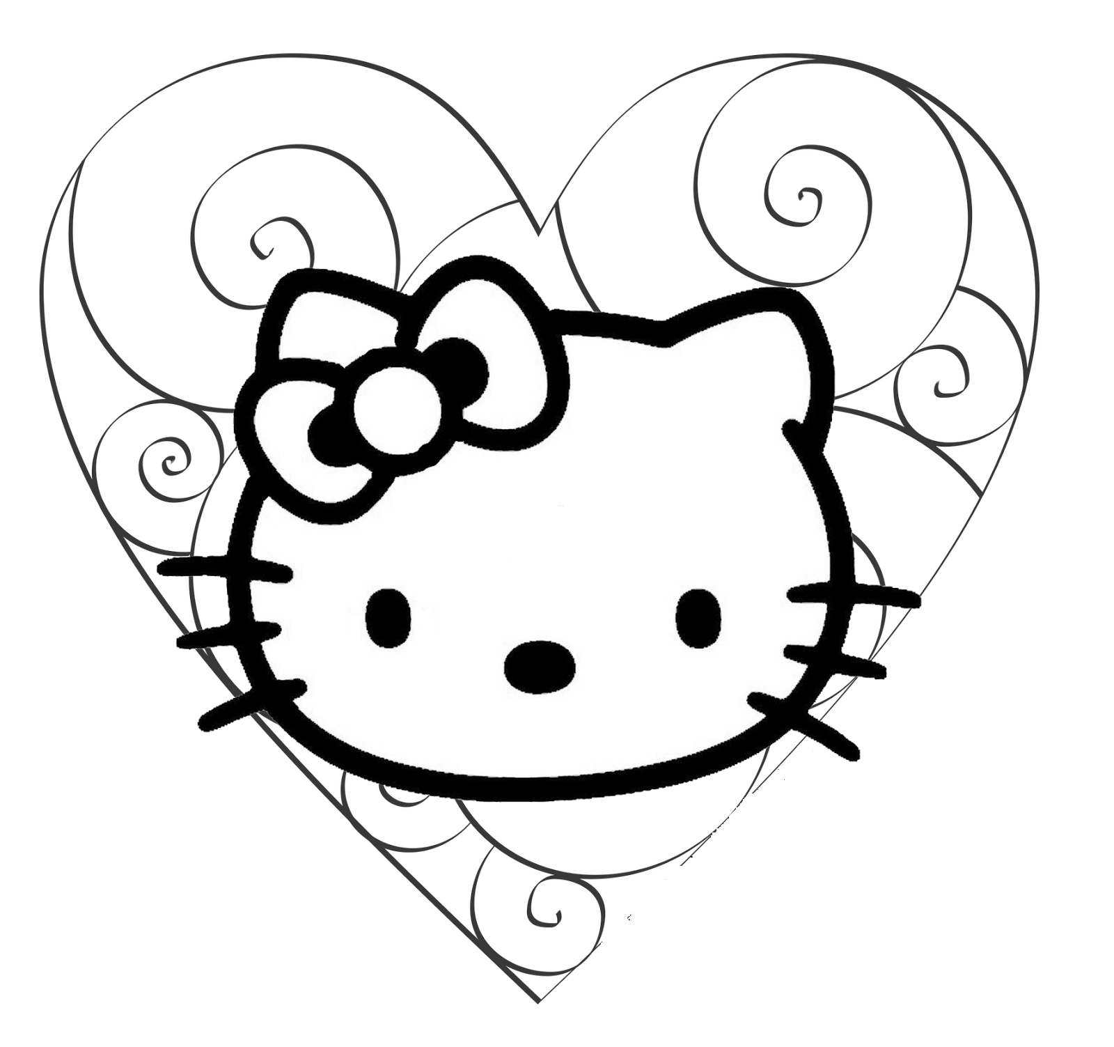 kitty coloring pages 4