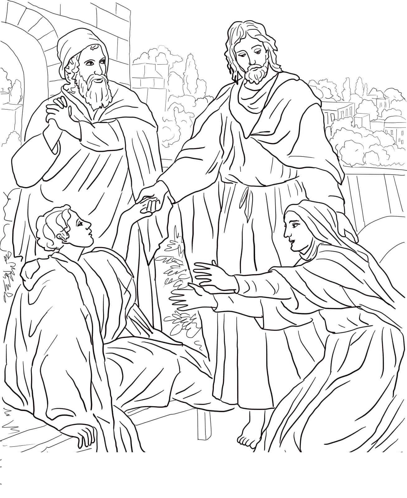 lazarus coloring pages lazarus and friend