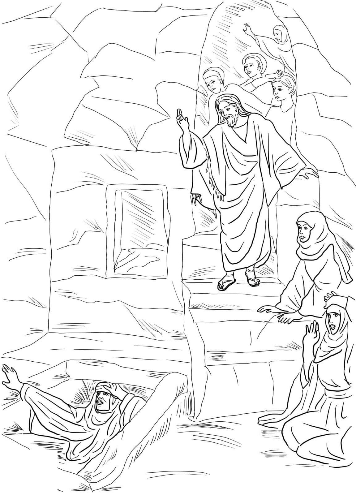 lazarus coloring pages resurrection
