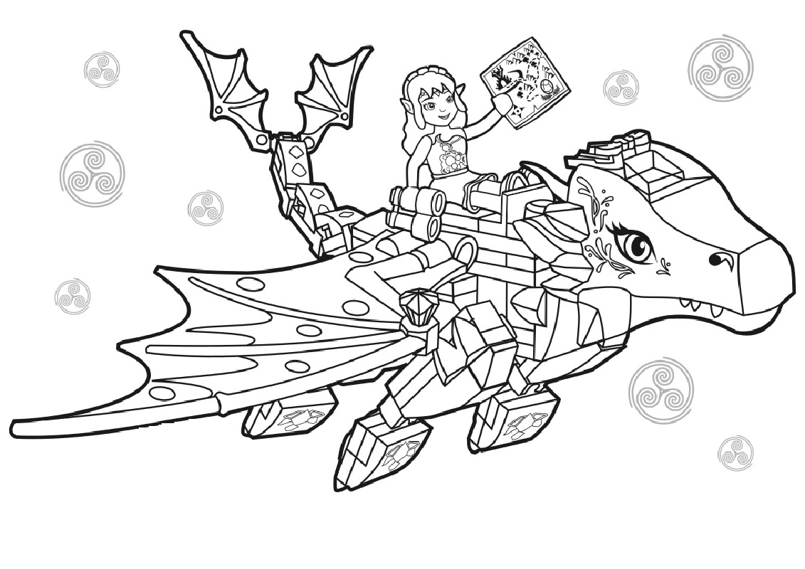 lego elves coloring pages 2