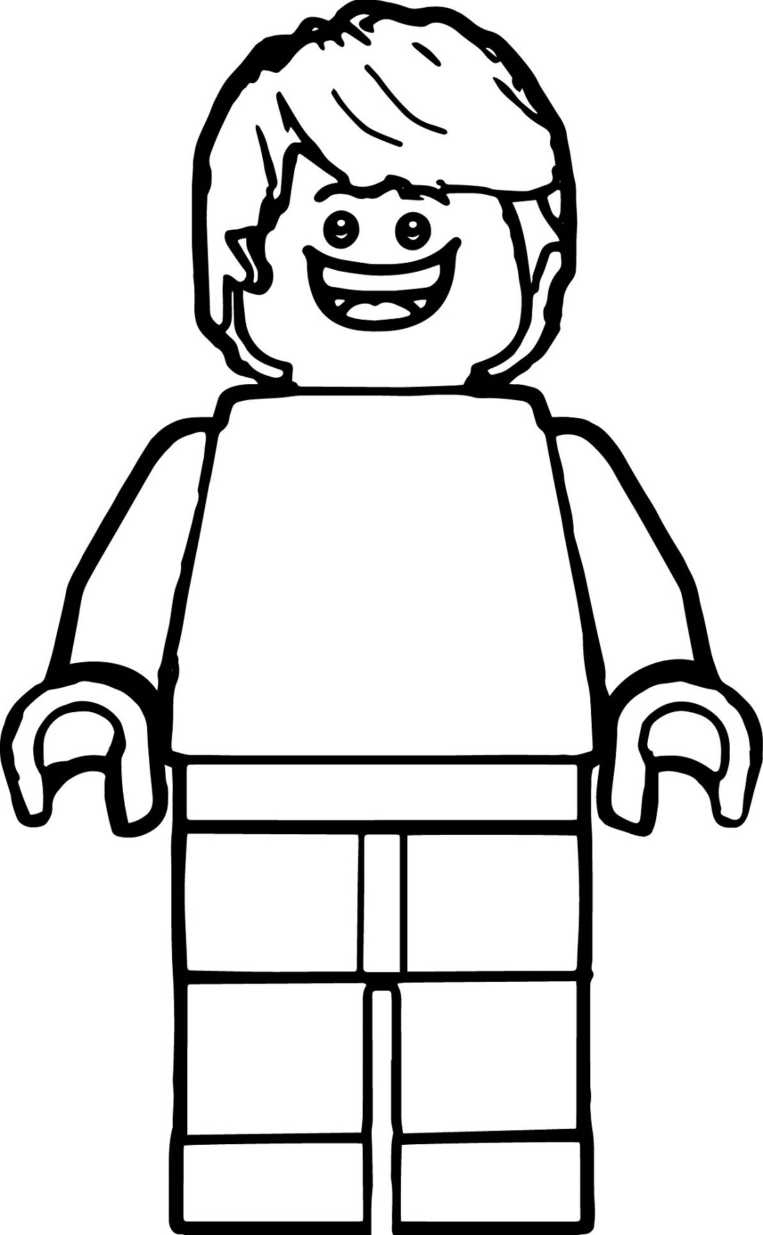 lego man coloring page 1