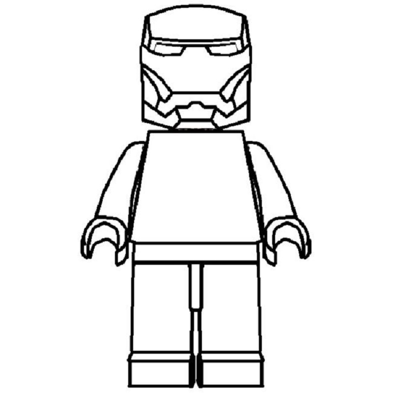 lego man coloring page 2