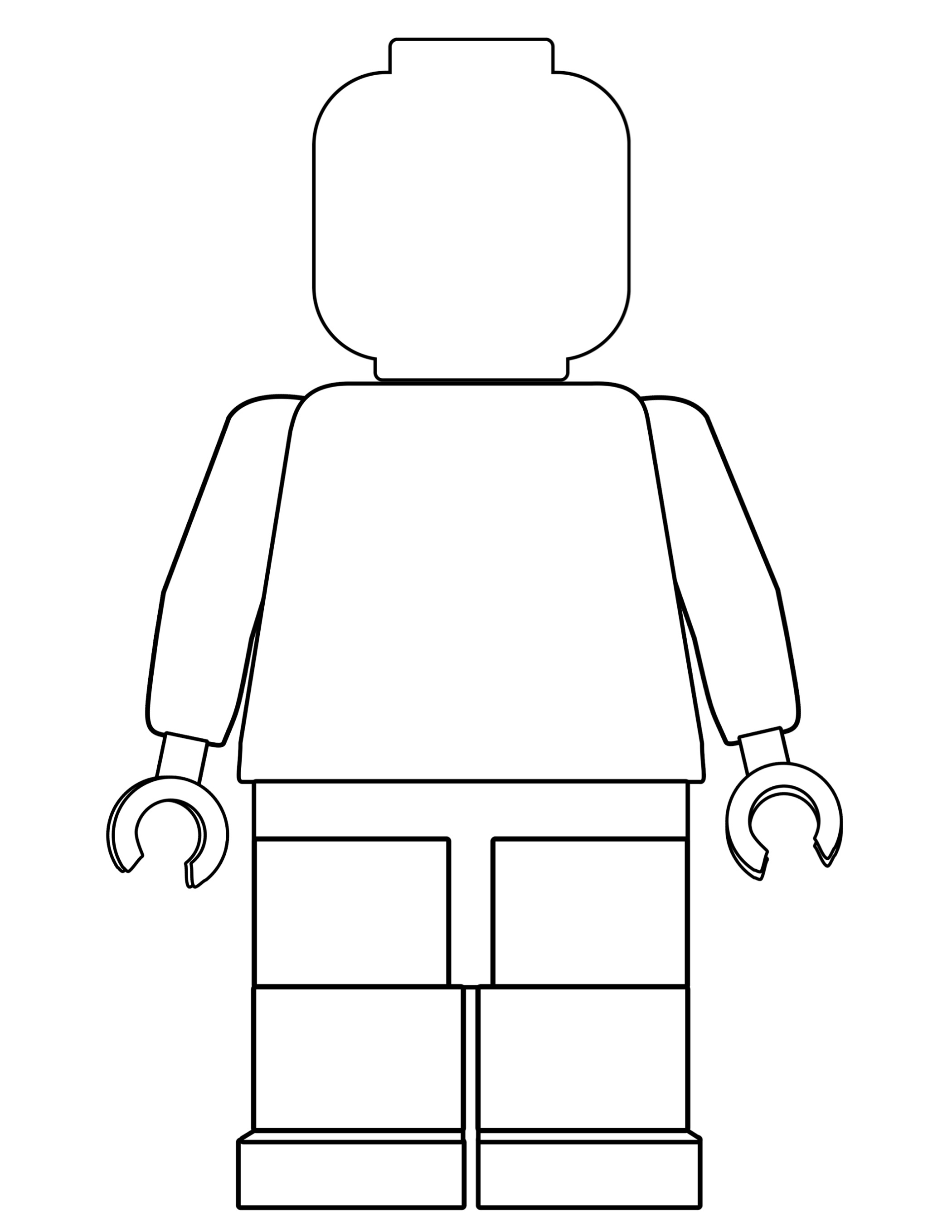 lego man coloring page 4