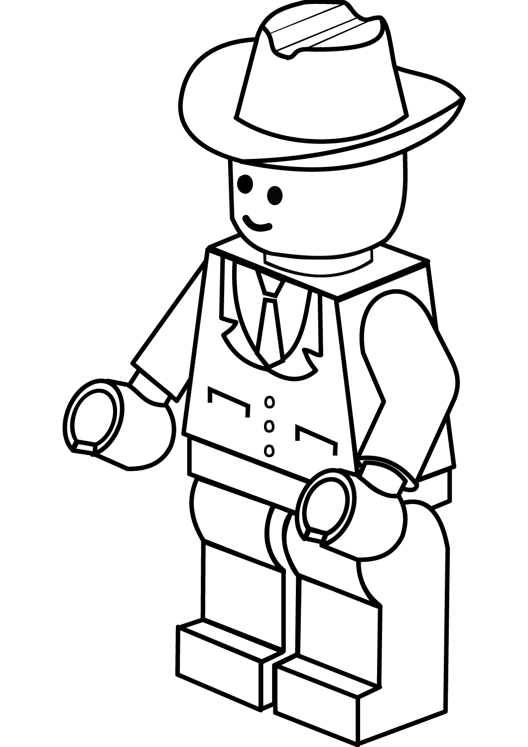 Lego Man Coloring Page for Students and Teacher ...